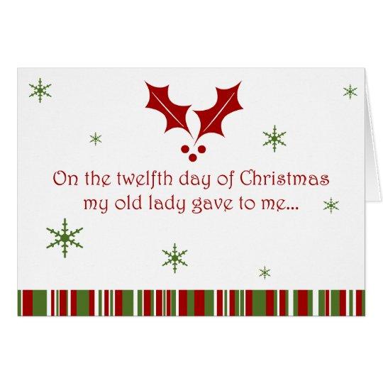 12 días de navidad de un campesino sureño tarjeta de felicitación