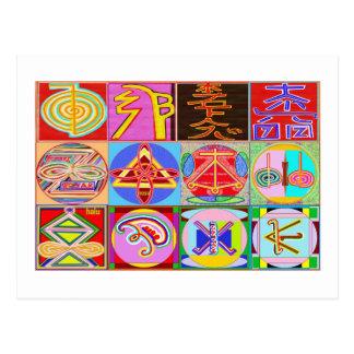12 diseños de la cura de Reiki n Karuna Reiki Postal