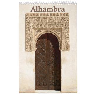 12 meses Alhambra y calendario de pared de
