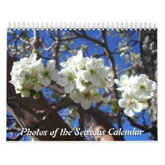 12 meses de las fotos de las estaciones, 10ma calendario de pared
