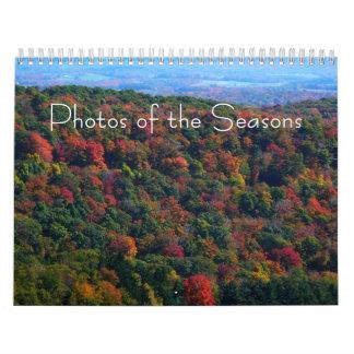 12 meses de las fotos de las estaciones, 9na calendarios