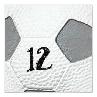 12mo Invitaciones temáticas del fútbol del Invitación 13,3 Cm X 13,3cm