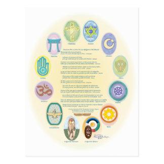 12Oraciones Por La Paz De Las Religiones Del Mundo Postal