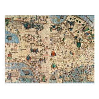 131-0058260/1 atlas catalán: Detalle de Asia, por Postal