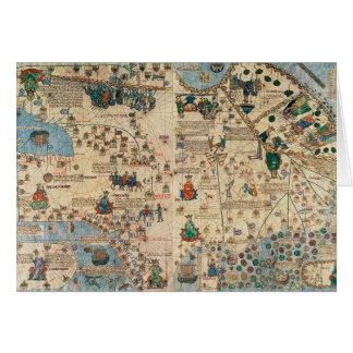 131-0058260/1 atlas catalán: Detalle de Asia, por  Tarjeta De Felicitación