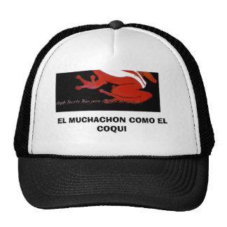139, EL COQUI DEL EL MUCHACHON COMO GORRO DE CAMIONERO