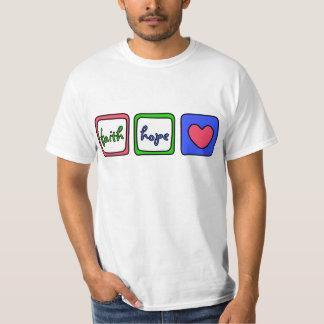 13:13 de los Corinthians de los corazones 1 del Camiseta
