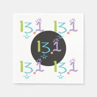13,1 servilletas de papel eclécticas del medio