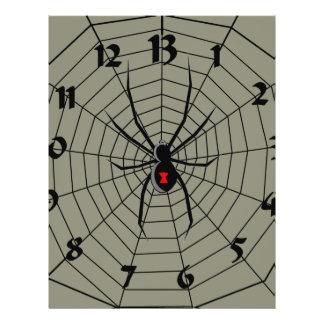 13 reloj de la araña de trece horas tarjetón