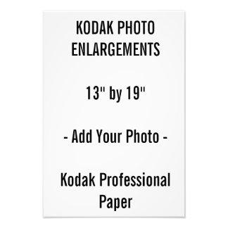 """13"""" x 19"""" ampliación de la foto"""