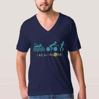 140,6 con los hombres de la hawaiana multan el camiseta