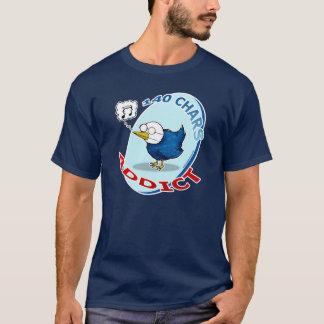 140 chars Addict Camiseta