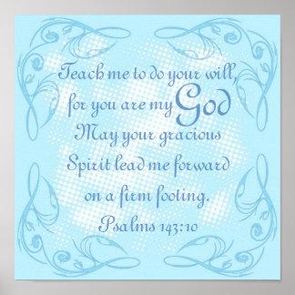 143:10 del salmo del rezo del verso de la biblia póster