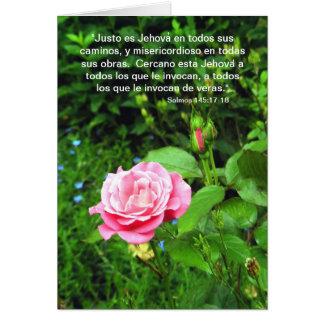 145:17 de Salmos - 18 Tarjeta De Felicitación