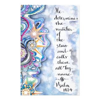 147:4 del salmo él llama las estrellas por nombre papeleria