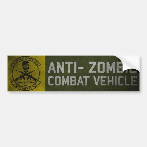 147a pegatina para el parachoques del TF del zombi Etiqueta De Parachoque