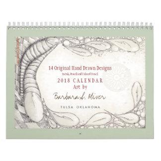 14 dibujos originales, calendario 2018