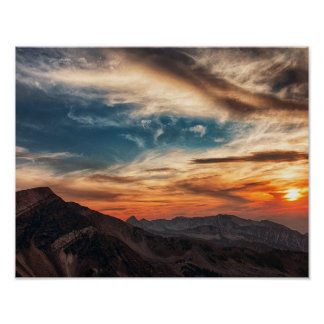 "14"" x 11"", montañas del papel de poster del valor"