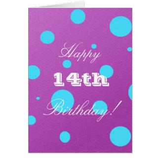 14ta tarjeta de cumpleaños feliz para el chica