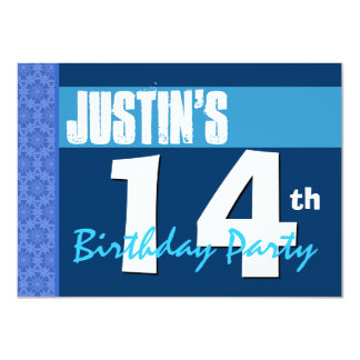 14to Cumpleaños adolescente moderno del modelo de Invitación 11,4 X 15,8 Cm