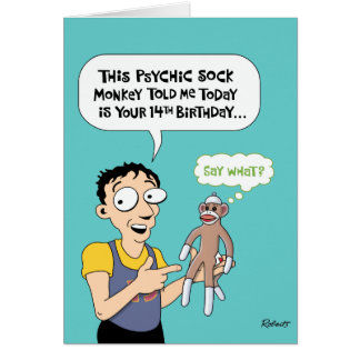 14to Humor de la tarjeta de felicitación del