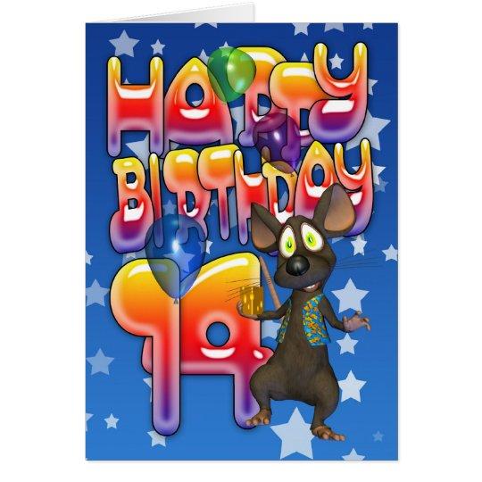 14to Tarjeta de cumpleaños, feliz cumpleaños