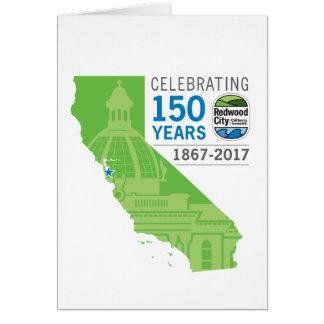 150o aniversario de Redwood City Tarjeta De Felicitación