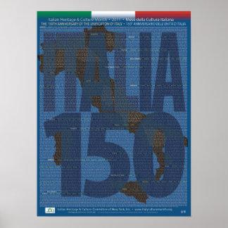 150o Unificación del aniversario del poster de Ita Póster