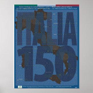 150o Unificación del aniversario del poster de Póster