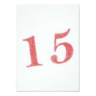 15 años de aniversario invitación 11,4 x 15,8 cm