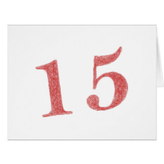 15 años de aniversario tarjeta de felicitación grande