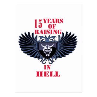 15 años de aumento en infierno postales