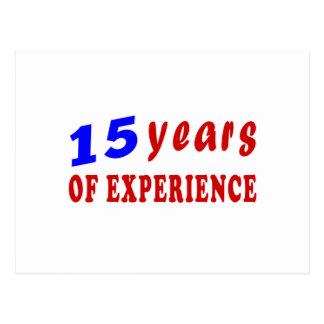 15 años de experiencia tarjetas postales