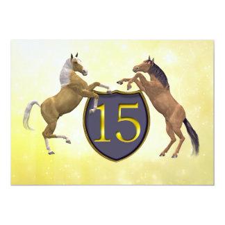 15 años de la fiesta de cumpleaños que alza invitación 12,7 x 17,8 cm