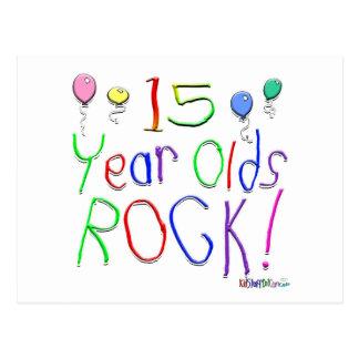 ¡15 años de la roca! tarjeta postal
