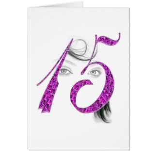 15 años de los chicas de la belleza de la tarjeta
