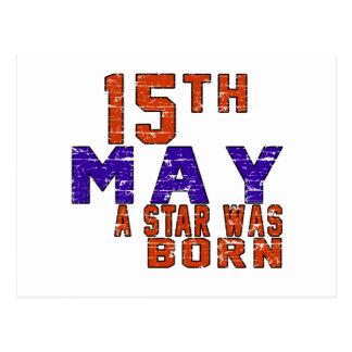 15 de mayo una estrella nació postal