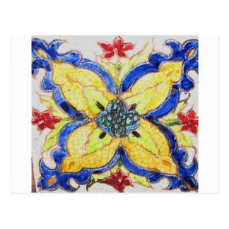1600s árabes de la teja del adorno del estampado postales