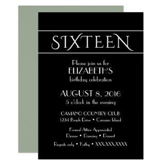 16' invitación del cumpleaños del th