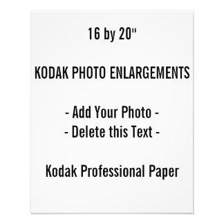 "16"" x 20"", papel profesional de la foto de Kodak"