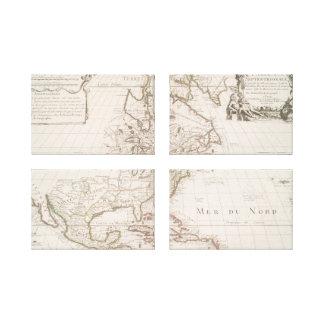 1700) mapas americanos de L'Amerique ( Impresión En Lienzo
