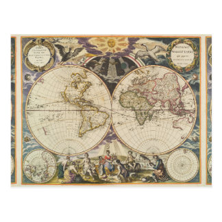 1702 un nuevo mapa del mundo postal