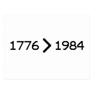 1776 > 1984 POSTAL