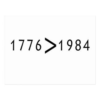 1776 > 1984 POSTALES