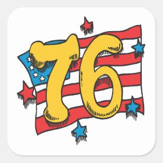 1776 PEGATINA CUADRADA