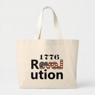 """1776 """"revoluciones de los E.E.U.U. del amor"""" Bolsa Tela Grande"""
