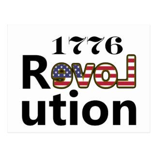 """1776 """"revoluciones de los E.E.U.U. del amor"""" Postal"""