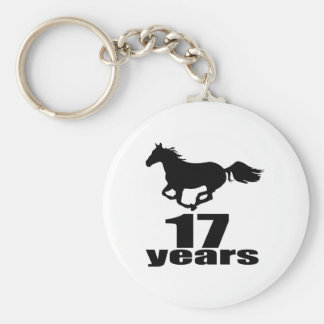 17 años de diseños del cumpleaños llavero