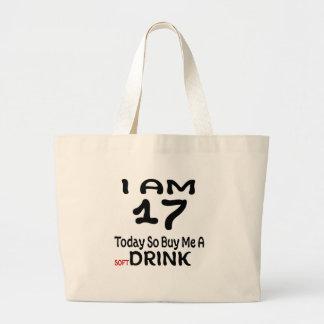 17 hoy tan cómpreme una bebida bolso de tela gigante