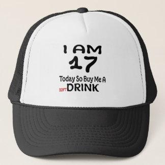 17 hoy tan cómpreme una bebida gorra de camionero